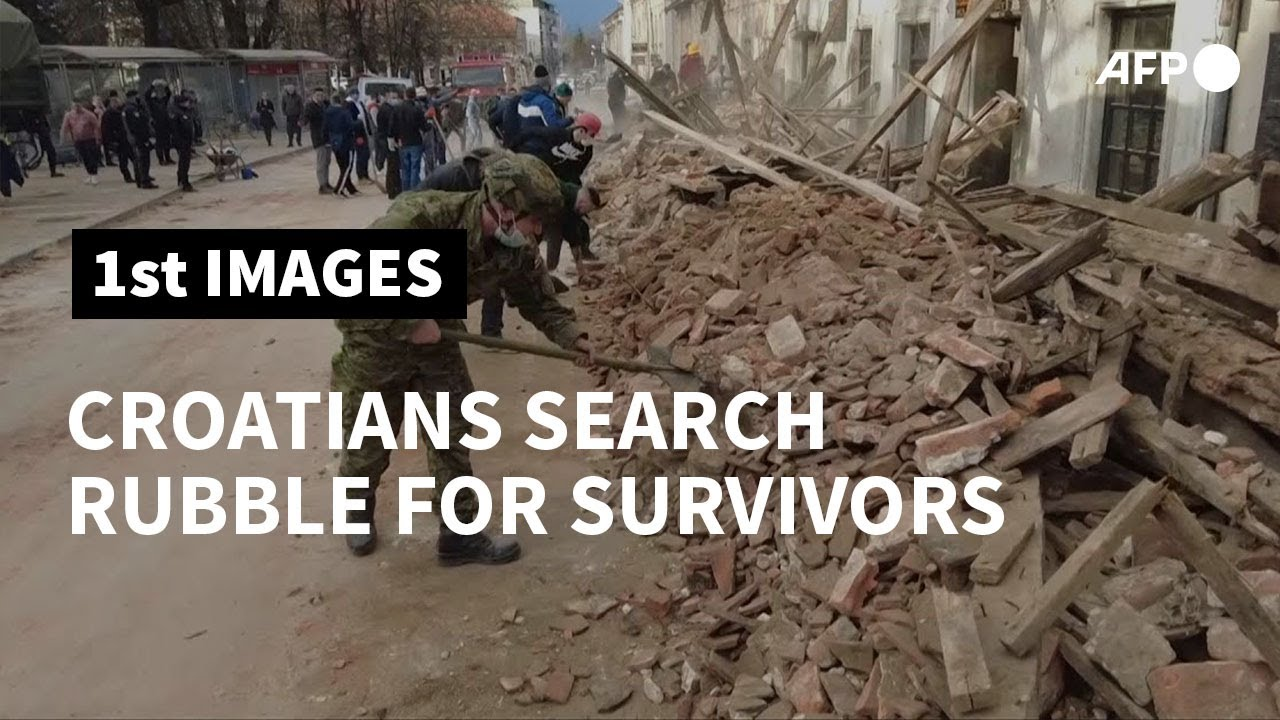 Croatians Search Rubble For Survivors After Earthquake Afp Youtube
