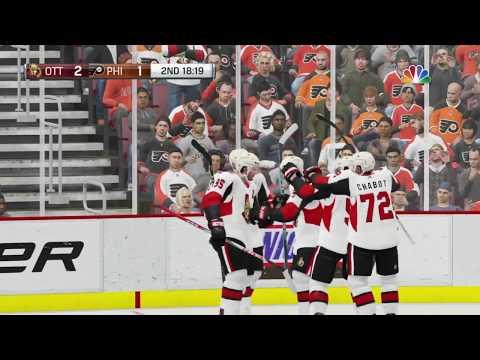 NHL 19 - Ottawa Senators Vs Philadelphia Flyers Gameplay - NHL Season Match Nov 27, 2018