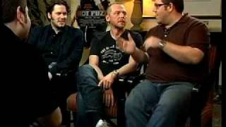 HOT FUZZ Edgar Wright, Simon Pegg, and Nick Frost interviews