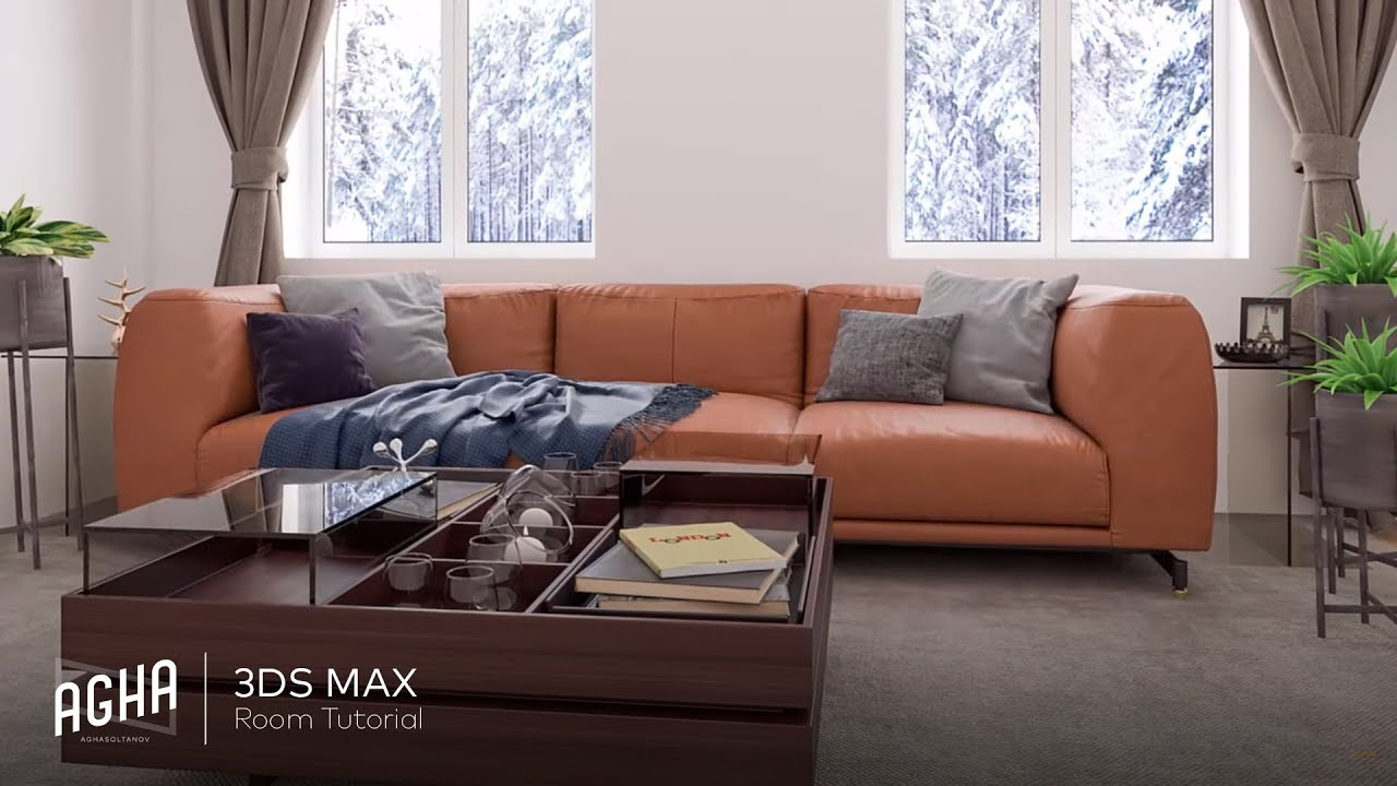 3Ds Max 2018 Vray 36 Interior Sofa Tutorial Photoshop YouTube