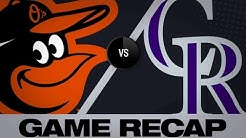 5/26/19: Wolters delivers walk-off win for Rockies