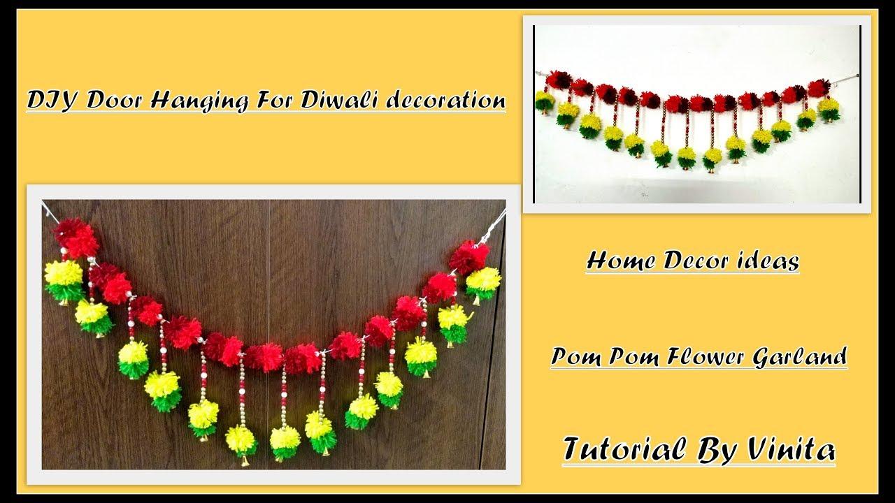 DIY door hanging(toran) for diwali decorations   home decor ideas by ...