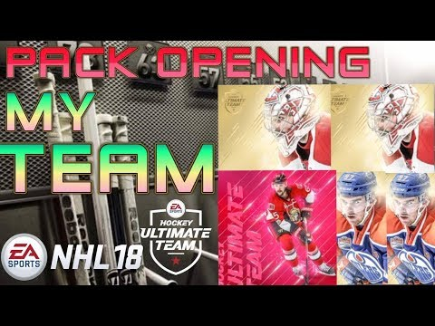 PACK OPENING & SHOWING MY STARTING TEAM!!! (NHL 18 HUT)(BIG PULLS!)