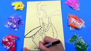 Đồ chơi trẻ em - TÔ MÀU TRANH CÁT HÌNH CON BỌ NGỰA - Color Sand Paint