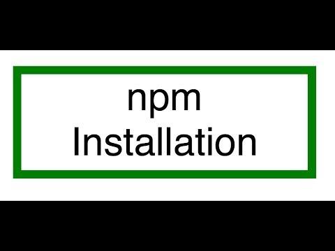 Installing npm (node package manager)