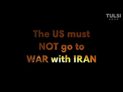 Gabbard: US must not go to war with Iran
