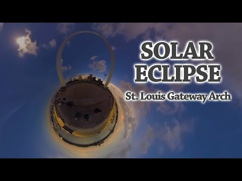 Solar Eclipse at the St. Louis Gateway Arch