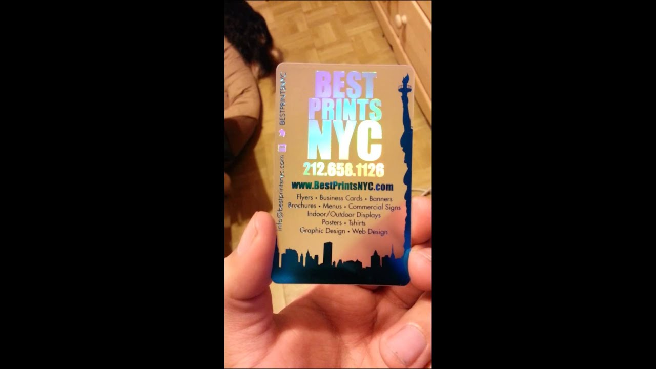Best Prints NYC Holographic and Metallic Translucent Business Card ...