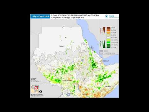 WFP VAM - Seasonal Monitor: West Africa (Sudan/Ethiopia) | Vegetation Index (% of Average)