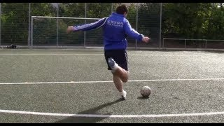 David beckham free kick tutorial | david beckham style curve bend free kicks