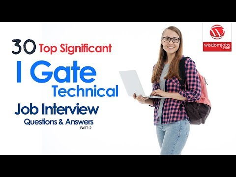 IGate Technical Interview Questions and Answers 2019 Part-2