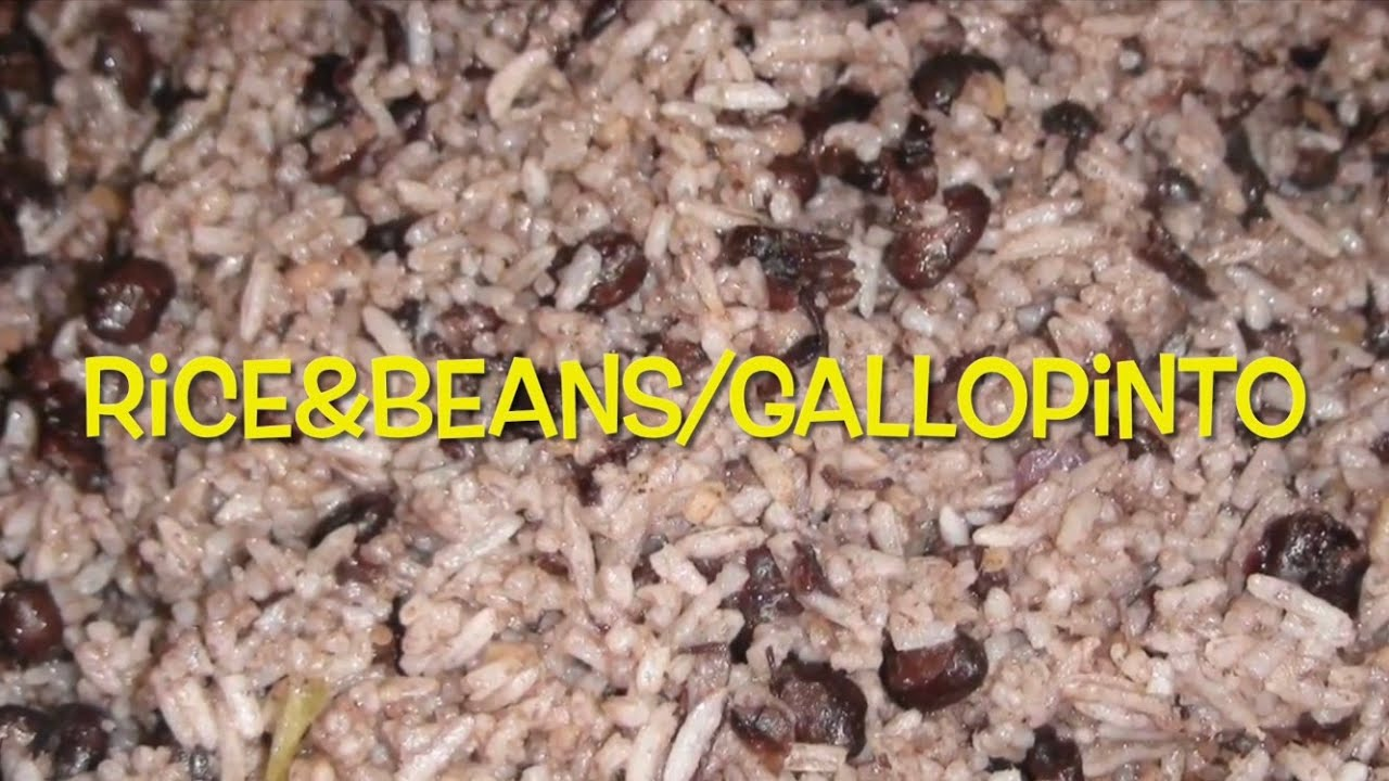 Fried Black Beans and Rice (Gallo Pinto)