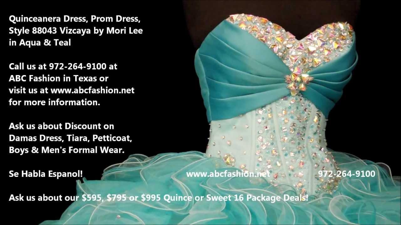 14ded7faf05 88043 Vizcaya by Mori Lee Aqua Quinceanera Dress