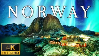 FLYING OVER NORWAY (4K UHD)  Relaxing Music With Stunning Beautiful Nature (4K Video Ultra HD)