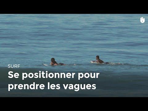 Se positionner pour prendre les vagues   Surf