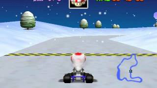 Mario Kart 64 - Frappe Snowland - User video