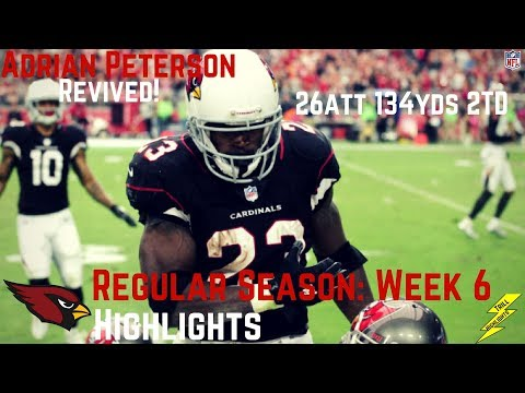 Adrian Peterson Week 6 Regular Season Highlights Rejuvenated | 10/15/2017