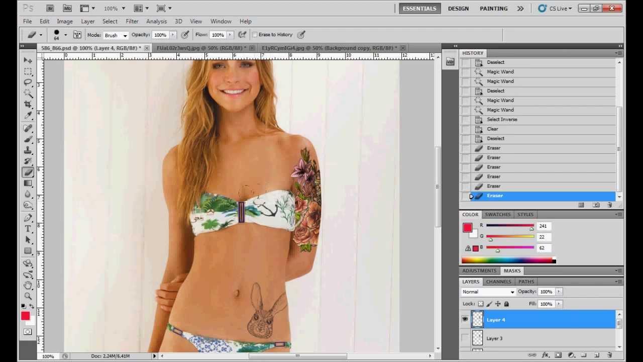Простые уроки Фотошоп | Татуировки на теле