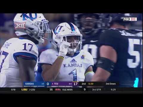 Kansas at TCU Football Highlights