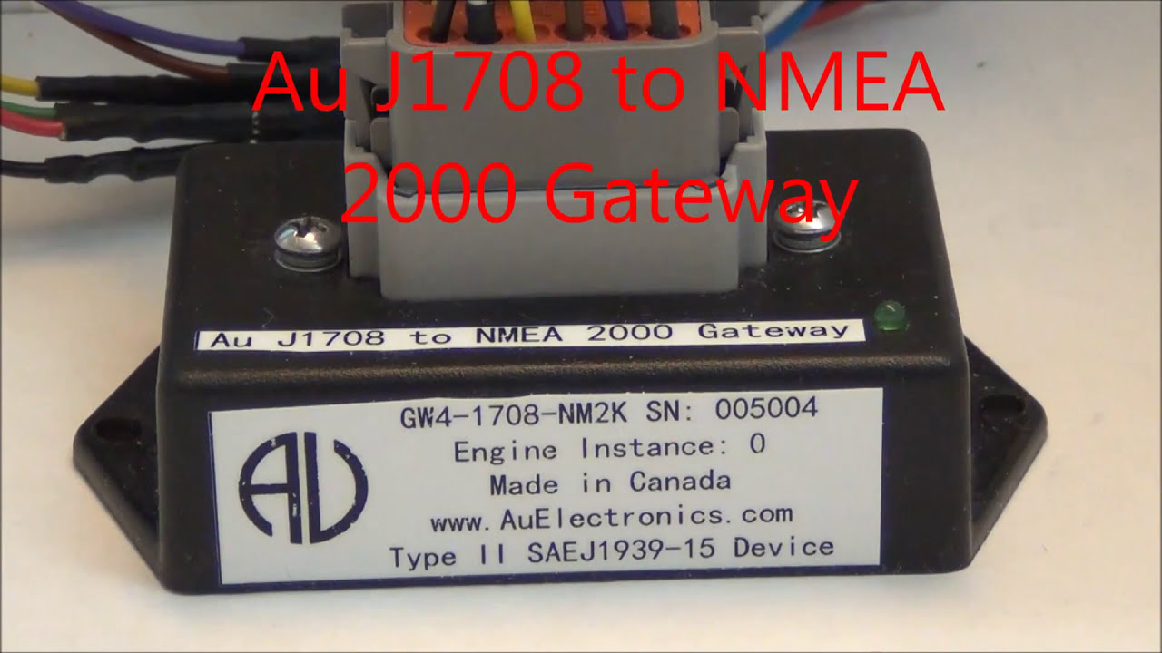 Au SAE J1708/1587 to NMEA 2000 Gateway: GW4-1708-NM2K -001