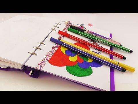 Drei NEUE IDEEN Malen & Zeichnen im Filofax Kalender | Indianer, Blume & Herz Girlande DIY