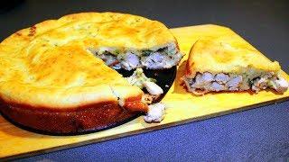 Тёща поделилась рецептом пирога, который получается всегда.  Наливной пирог с мясом