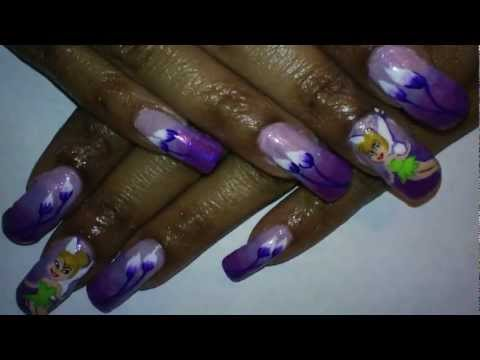 Notw purple gradient tinkerbell inspired nail art design youtube notw purple gradient tinkerbell inspired nail art design prinsesfo Gallery