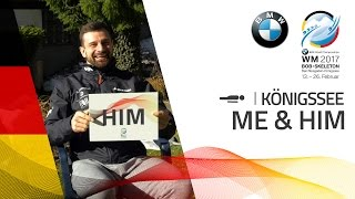 Me and Him with the Dukurs Bros. | BMW IBSF World Championships 2017