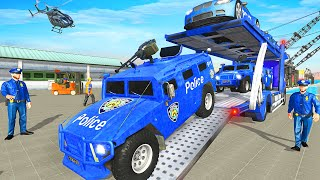 Grand Police Transport Truck - US Police Cars: Transport - Android GamePlay HD
