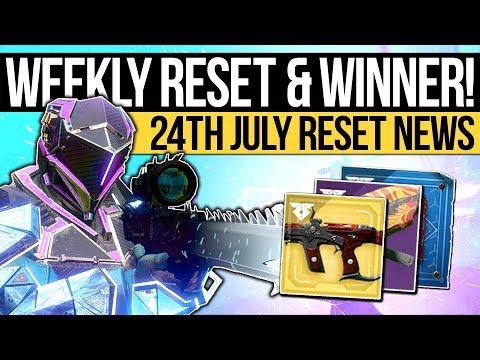 Destiny 2 News   WEEKLY RESET & RALLY WINNER! Exotics, Nightfall, 400 Power & Eververse (24th July)