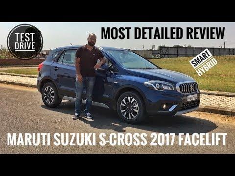 MARUTI SUZUKI NEW S CROSS SMART HYBRID 2017 FACELIFT DETAILED REVIEW, TEST DRIVE, PRICE