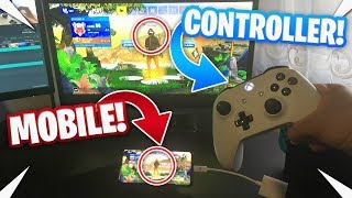 Using a controller on Fortnite Mobile... (IS THIS CHEATING?)