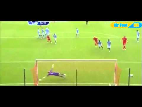 Suarez Goal Liverpool vs Manchester City Free Kick august 26th 2012