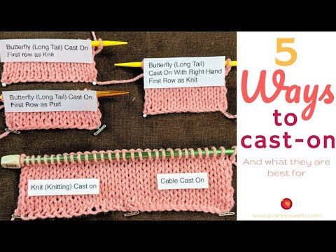 Different ways to cast on  and their uses - Cast-On Types in Knitting