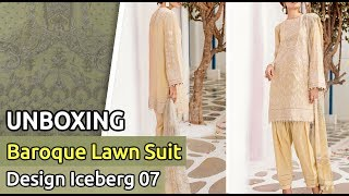 Latest BAROQUE Lawn Suit 2019 | Unboxing of New Pakistani Dress Design iceberg 07| Unbox Lawn