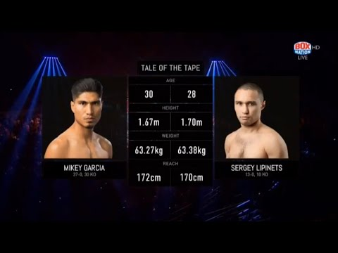 Mikey Garcia Vs Sergey Lipinets (FULL FIGHT) KNOCK DOWN 7th ROUND!