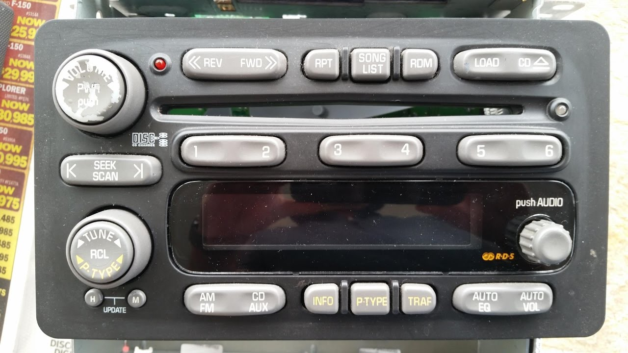 2002-2008 GM 6 disc changer broken, how to replace CD player