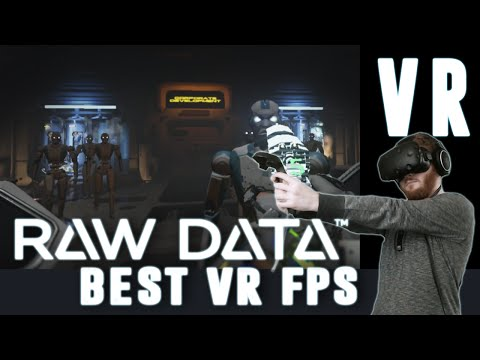 Raw Data: VR action combat shooter gameplay overview on HTC Vive using pistol and katana