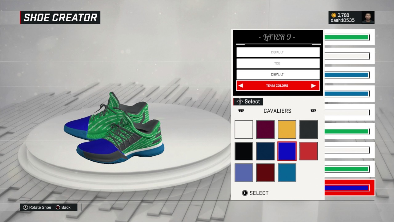 ec7ced7d65d4 Nba 2K 17  Editing James Harden shoes - YouTube