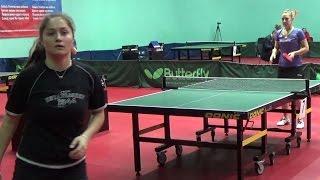 Анастасия ГОЛУБЕВА - Анна БЛАЖКО 1/4 ФИНАЛа Настольный теннис, Table Tennis