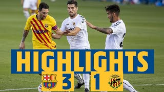 HIGHLIGHTS REACTION Barça 3 1 Nàstic