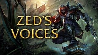 LoL Voices - Zed - All 17 languages