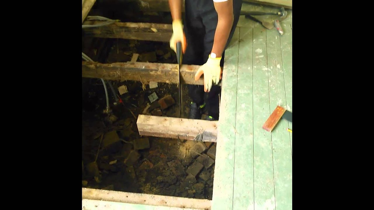 DIY How to replace rotten joists and flooring  YouTube