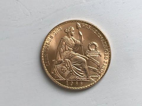 Peru 100 Soles Gold Coin - Peruvian Seated Liberty