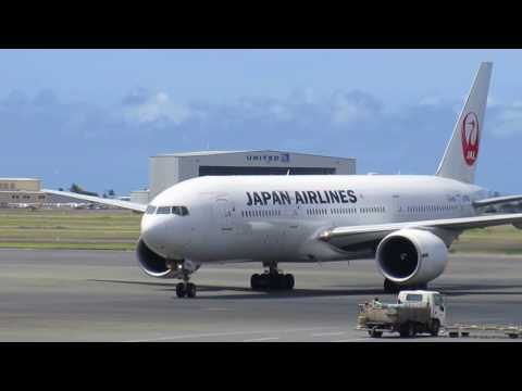 Japan Airlines Boeing 777 Honolulu International Airport Oahu Hawaii