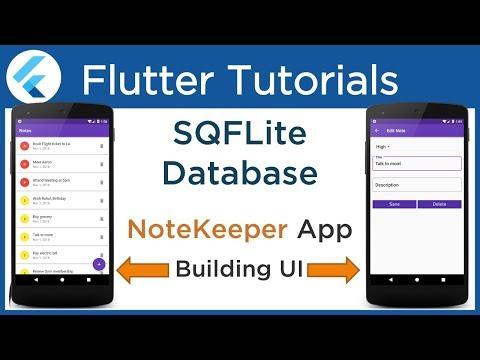 4 2 Flutter: Building UI for NoteKeeper App   SQFlite Plugin   Smartherd
