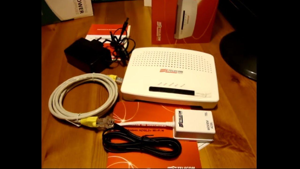 Modem Router Telecom 2012 Technicolor ADSL 2+ Wi-Fi N 20 Mbps