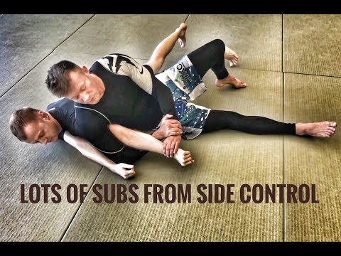 BJJ Techniques - Lots Of Submissions From Side Control