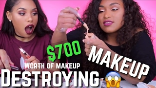 DESTROYING $700 WORTH OF MAKEUP 😱