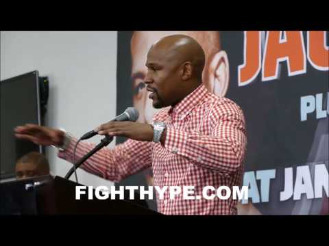 FLOYD MAYWEATHER WANTS TO SIGN JAMES DEGALE; SAYS HE'S PROUD OF HIM AND TALKS PLANS TO PROMOTE
